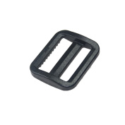 "25pcs 1""(25mm) Webbing Plastic Wide Mouth Triglides Slides Black FLC079-B"