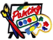 """PAINTING"" - Iron On Embroidered Patch - HOBBY - CRAFTS - PAINTER - PAINTING"