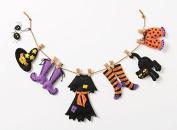 Bucilla Felt Applique Wall Hanging Kit, Witch Laundry Line, 86688 Size 60cm by 14cm