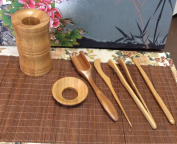 Music City Tea Bamboo Gong Fu Tea Tools Medium Size Tools M001