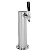 Kegco D4740 Single Tap Chrome Draught Beer Kegerator Tower - 6.4cm Diameter