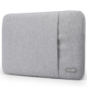 Lacdo 40cm Water Repellent Fabric Laptop Sleeve Case Notebook Bag for ASUS X551MA / Toshiba Satellite / Dell Inspiron / Lenovo / HP / Acer, Grey