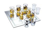 KOVOT Shot Glass Tic Tac Toe Game - 10 FULL-SIZED Shot Glasses Included