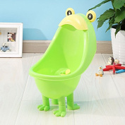 Suction-cup wall mounted urinal boy standing urinals for children , green