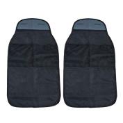 VANSSI 2PCS Car Organisers Kick Mats, Waterproof Seat Back Protectors-Black