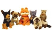 TY Beanie Babies - GARFIELD MOVIE BEANIES ( Set of 6 ) by Ty inc.