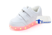 (+Small towel)Korean fashion shoes, led light-emitting luminous lights flash . shoes for male and female childrens shoes fashion