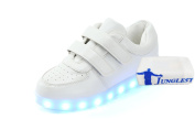 (+Small towel)Childrens shoes USB charging emitting light boys shoes girls shoes luminous LED lighted sports shoes big boy shoes fashi