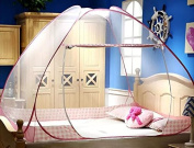 Fancyland Zipper Closure Encryption Laced Bottomed Foldable Mosquito Net Canopy Flying Bugs Insects Protection