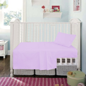 Lilac Superior Egyptian Cotton Fitted Sheet By Sleep & Smile : Cot (60 x 120cm) Size Lilac