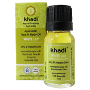 KHADI - Face and Body Oil - White Lily - 10ml - Excellent for dry & mature skin - Increases skin´s elasticity - Supports skin regeneration