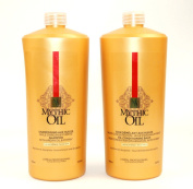 L'OREAL MYTHIC OIL SHAMPOO & CONDITIONER 1000ML DUO THICK HAIR NEW SALON SIZE