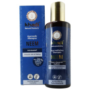 KHADI - Herbal Neem Anti-Dandruff Shampoo - Cleanses & Conditions Hair & Scalp - Reduces flaking & itching