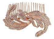Pick A Gem Wedding Hair Accessories Vintage Inspired Rose Gold Hair Comb Bridal Comb Diamante Hair Accessory