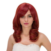 Women Costume Medium Length Curly Wave Club Party Beauty Wigs Cosplay
