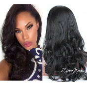 ZanaWigs Natural Looking Body Wave Lace Front Wig Best Wet Wavy Brazilian Remy Human Hair Wigs for Black / White Women