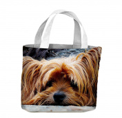 Yorkshire Terrier Face Tote Shopping Bag For Life Print Wall Art - Choice Of Sizes
