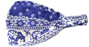 100% cotton TRIBAL THAI ELEPHANT DESIGN LADIES BANDANA (cool . bandana covered in a traditional siam design),Navy Blue colour