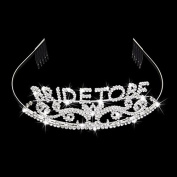 Veewon Pretty Rhinestone Sparkle Bride to Be Tiara Crown Bachelorette Party Exquisite Headband Comb Pin Wedding Bridal Shower Party