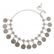 Antique Silver Bohemian Gypsy Coins Tassel Head Chain Headpieces Jewellery