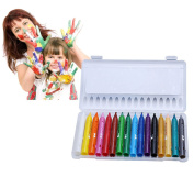 Liying Face Painting Pencils Paints Retractable Crayon Set Washable Oil Pastel Safe for Face and Body 16 Assorted Colour Oil Painting