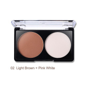 Unisky Face Shading Powder Contour Bronzer Highlighter Trimming Powder Makeup Face Pressed Powder 2 Colour