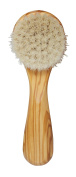 Exfoliating Face Brush with Super Soft Goats Bristles Olive Wood
