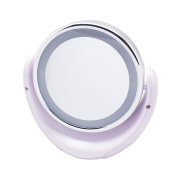 Meetory LED Makeup Mirror 5x Double-Sided Magnification Magnifying 360 degree Rotation with LED Light Powered by Batteries