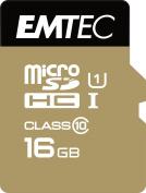 Emtec microSD Class10 Gold+ 16GB - memory cards (Blue, Gold, Micro Secure Digital High-Capacity