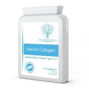 Marine Collagen 600mg 60 capsules - Type 1 & 2 Pure Hydrolysed Marine Collagen