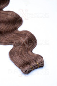 Weft Human Hair Extension, Wavy, 100% Indian Hair, 50 cm