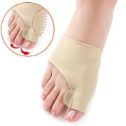 Bunion Corrector Toe Protectors Bunion Gel Pad Spandex Bunion Toe Strengtheners Spreader with 2 Booties 1 Pair by Yosoo