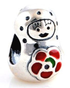 Russian Doll Women's Charm Bead suitable for Pandora Jewellery or similar 100% 925 Sterling Silver