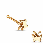 Titanium Steel Rose Gold Butterfly Nose Stud