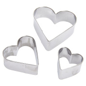 Cookie Cutters - TOOGOO(R)Heart Cut Outs/Heart Cookie Cutters,Set of 3