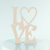 Hippy Heart Love Proposal Wedding Engagment Decoration Cake Topper Mirror Acrylic Silhouette