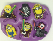 Star wars minions silicone mould / mould.lego Disney characters.topper.cupcake.r2d2.c3po.
