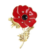 Fengteng Poppy Flower Corsage Brooch Fashion Oil Painting Pin