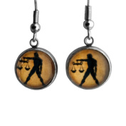 Zodiac Symbol - Libra - Surgical Steel Earrings