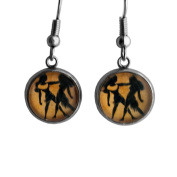 Zodiac Symbol - Gemini - Surgical Steel Earrings