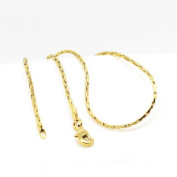 18 k Gold Plated Chain Jewellery Lady Necklace for Women Chain 1 mm width N415