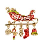 Christmas sled Brooch - TOOGOO(R)Christmas Brooch Pin Xmas sled gifts