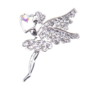 Zrong Elegent Crystal Pretty Angel Brooch Pin for Women Lady Girl