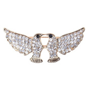Zrong Elegant Crystal Rhinestone Swallow Design Wedding Bridal Brooch Pin Xmas Decor