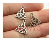 6pcs 16*14mm antique silver Triquetra Symbol charms