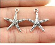 6pcs 20*18mm antique silver colour starfish charms