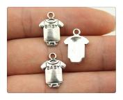 6pcs 17*12mm vintage antique silver colour baby cloth charms