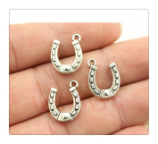 6pcs 15*12mm antique silver plated horse shoe charms