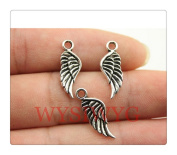 6pcs 21*8mm antique silver wing charms