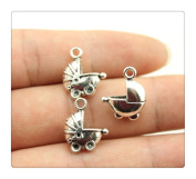 6pcs 16*13mm antique silver tone Stroller charms